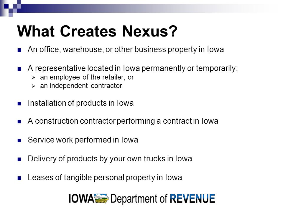 What is taxable in Iowa.