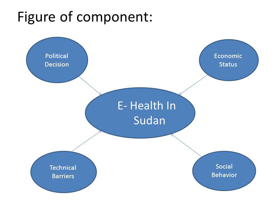 Figure of component: E- Health In Sudan Political Decision Economic Status Technical Barriers Social Behavior