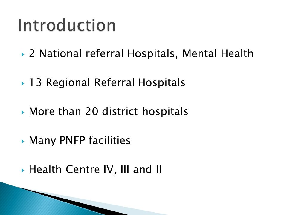  The establishment consists of: ◦ Resource Centre at the MoH Hdq.