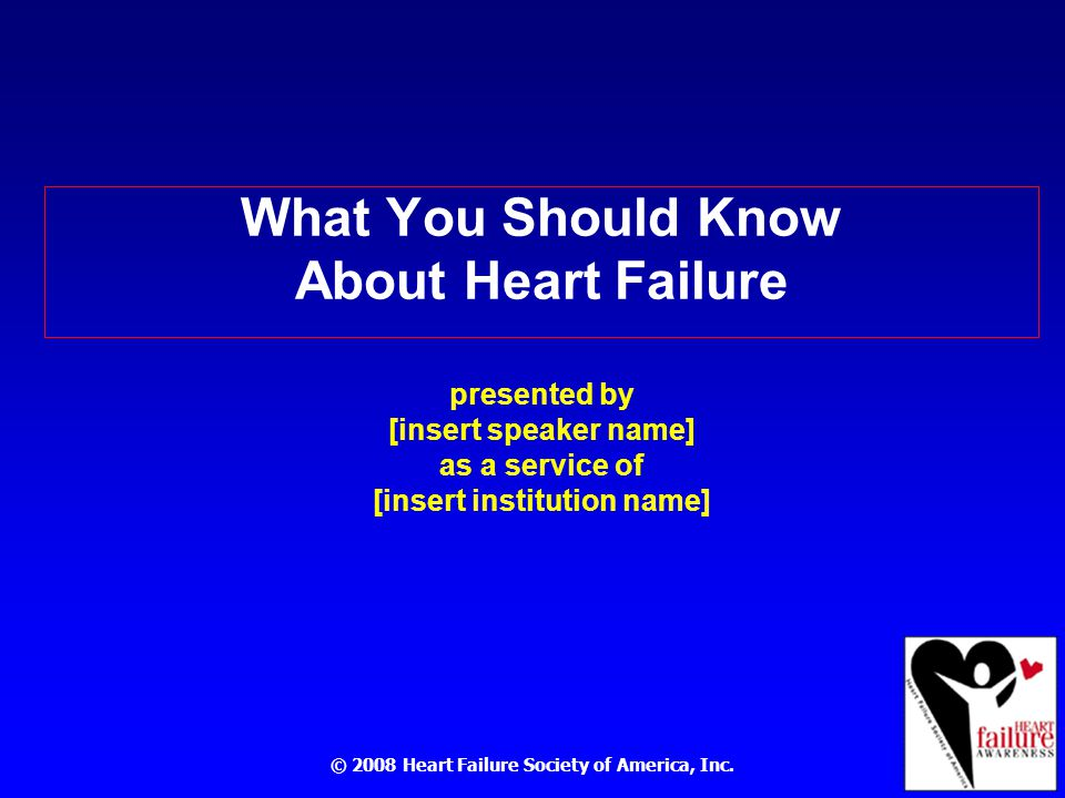 © 2008 Heart Failure Society of America, Inc.