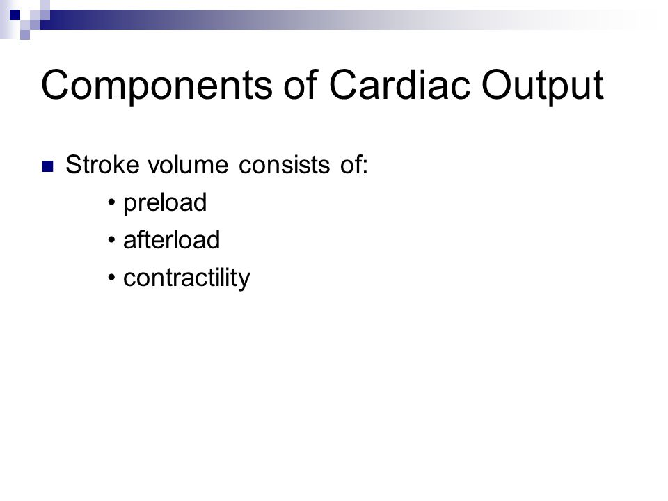 Compensatory Mechanisms Cardiac output=stroke volume x heart rate One of the body's mechanisms to compensate is to release norepinephrine & epinephrine to increase HR, which increases cardiac output.