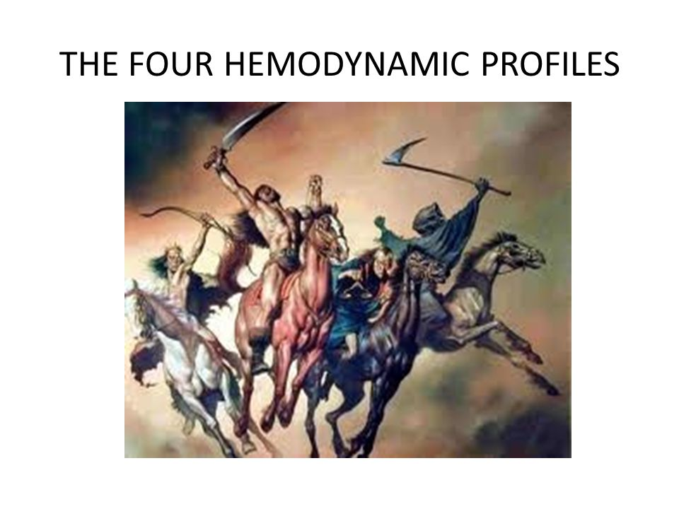 THE FOUR HEMODYNAMIC PROFILES