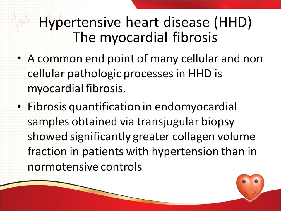 Microvascular disease and endothelial dysfunction are apparent in hypertensive heart disease Progressive impairment of flow-mediated vasodilation happens as LV mass increased, consistent with the previously described ultra structural remodeling of myocardial micro vessels This explains increased frequency of hypertension in patients with chest pain, angiographically normal coronary arteries, and subendocardial ischemia on perfusion imaging Hypertensive Heart Disease (HHD) Vascular and other changes