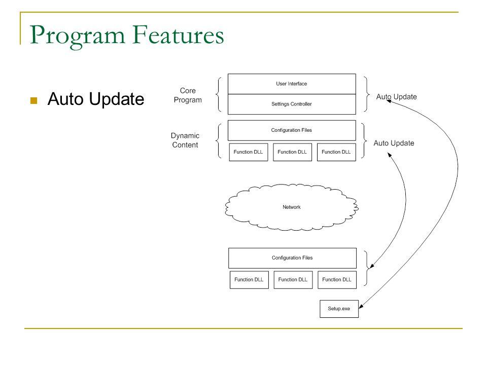 Program Features Auto Update