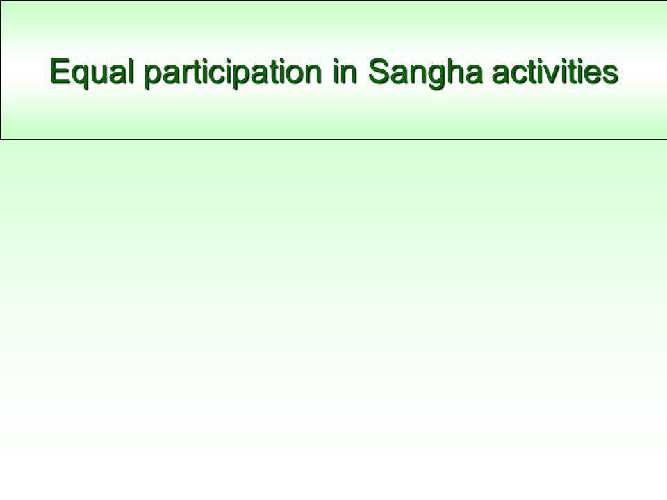 Equal participation in Sangha activities
