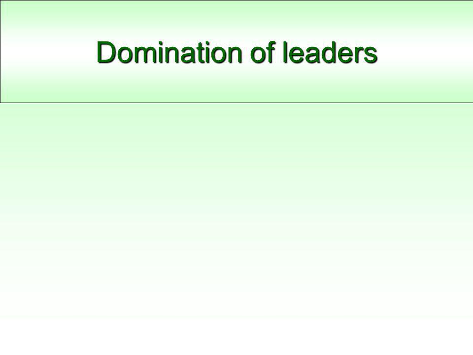 Domination of leaders