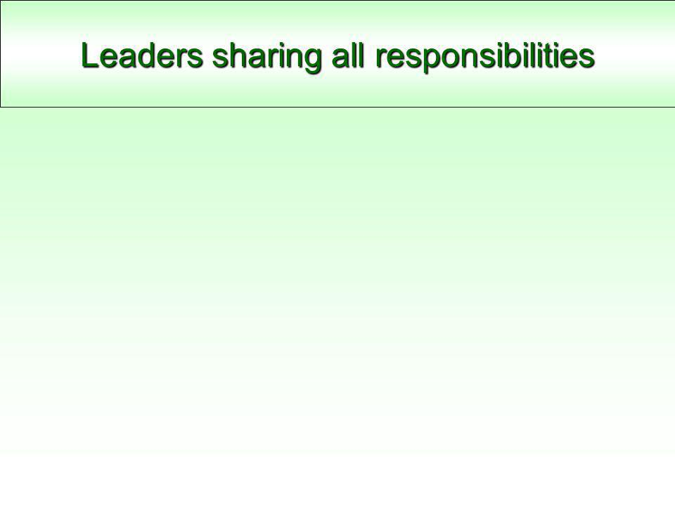Leaders sharing all responsibilities