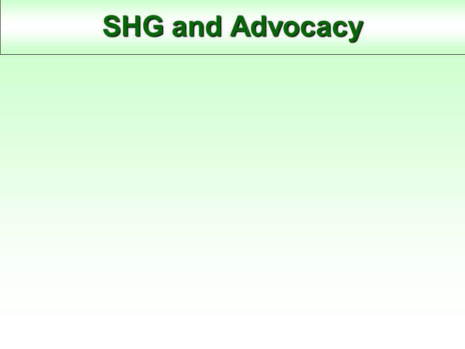 SHG and Advocacy