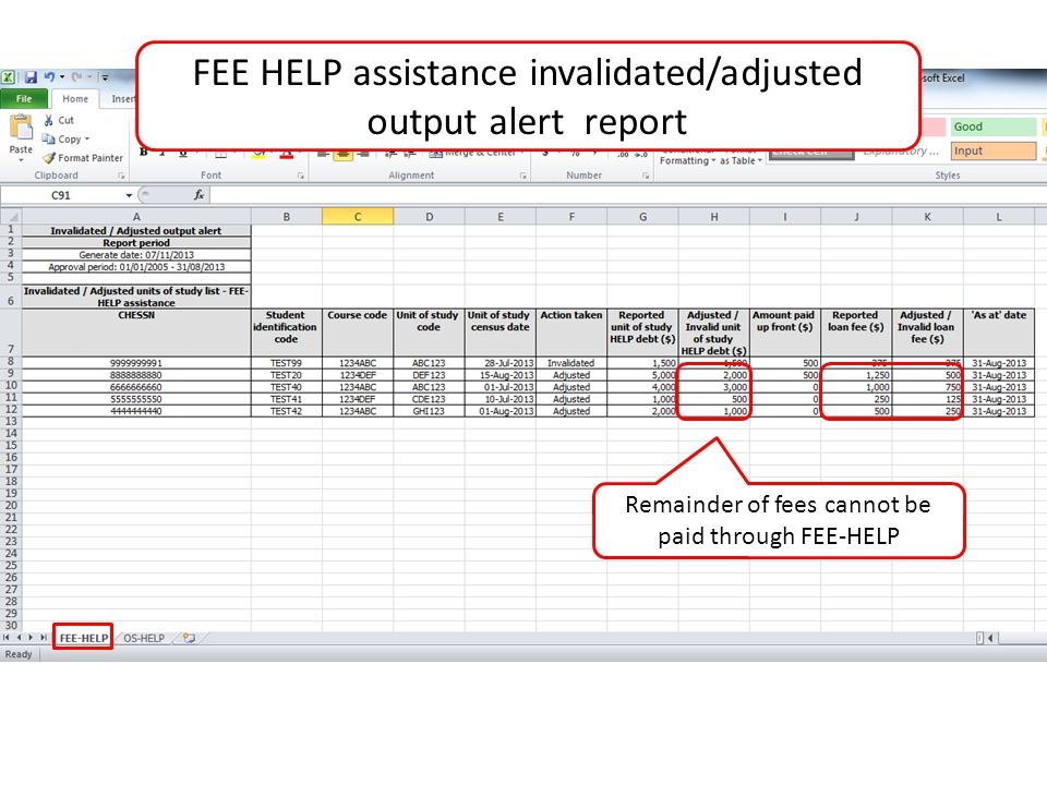 Remainder of fees cannot be paid through FEE-HELP