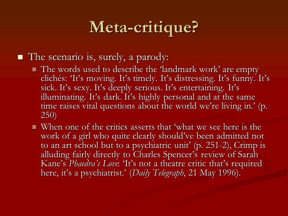Meta-critique.