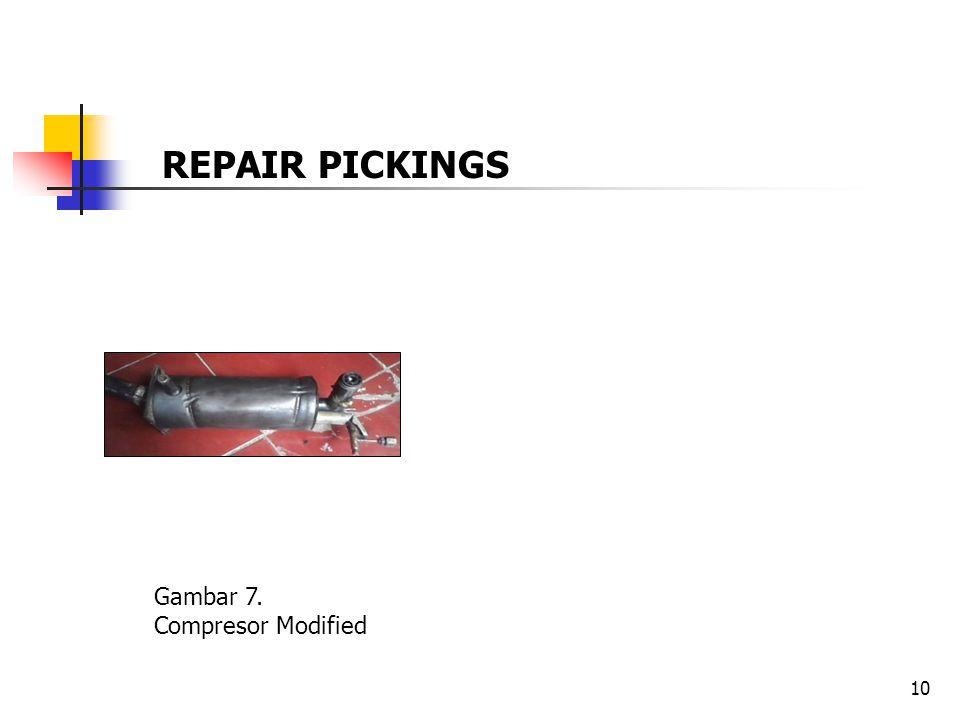 10 Gambar 7. Compresor Modified REPAIR PICKINGS