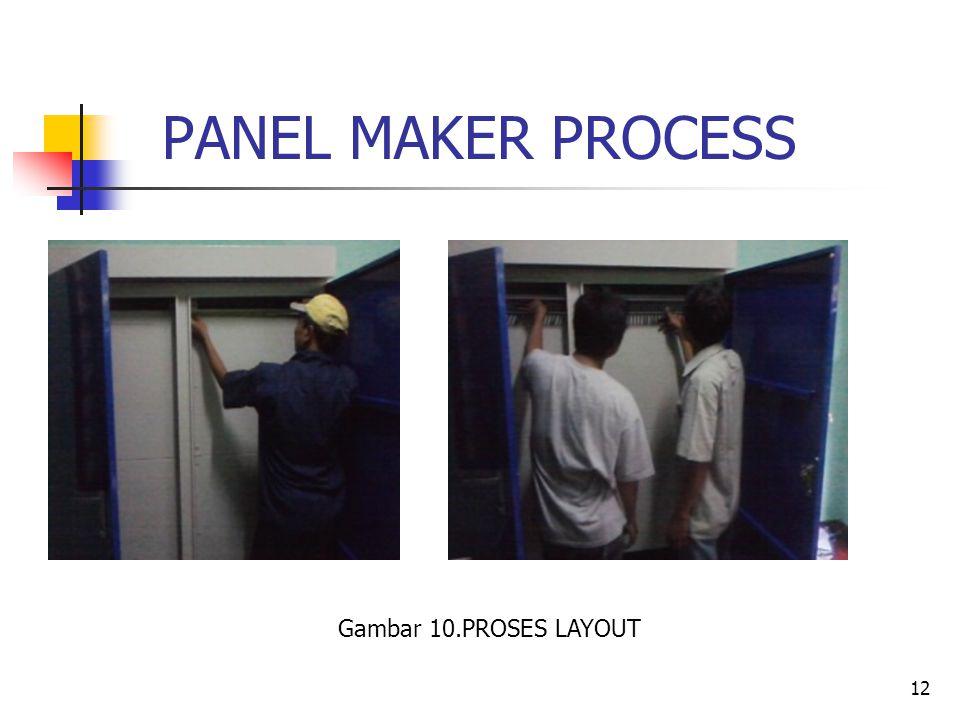 12 PANEL MAKER PROCESS Gambar 10.PROSES LAYOUT