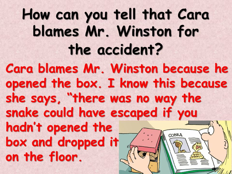 Why do you think Cara keeps stating things that Mr.