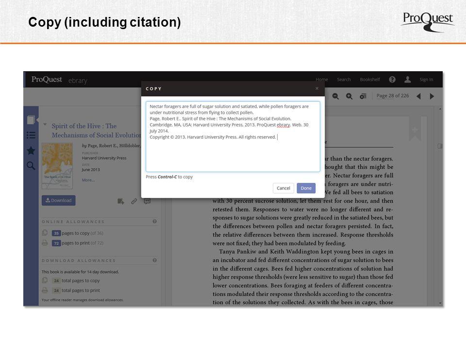 Copy (including citation)