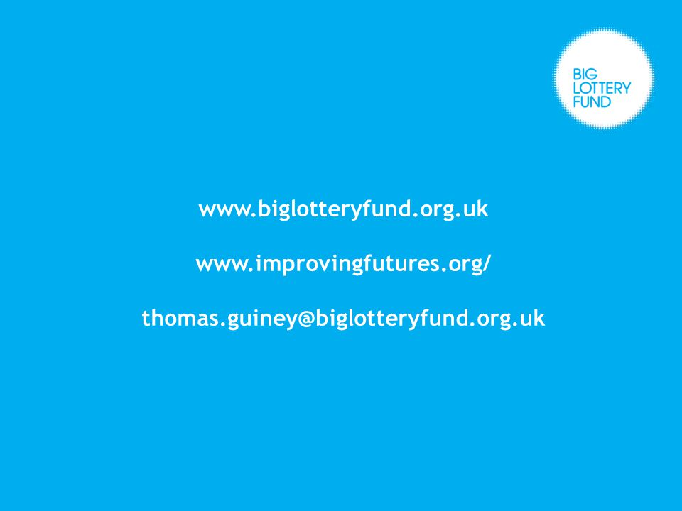www.biglotteryfund.org.uk www.improvingfutures.org/ thomas.guiney@biglotteryfund.org.uk