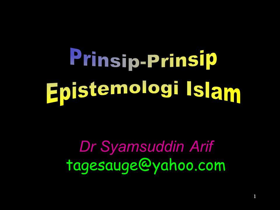 1 Dr Syamsuddin Arif tagesauge@yahoo.com