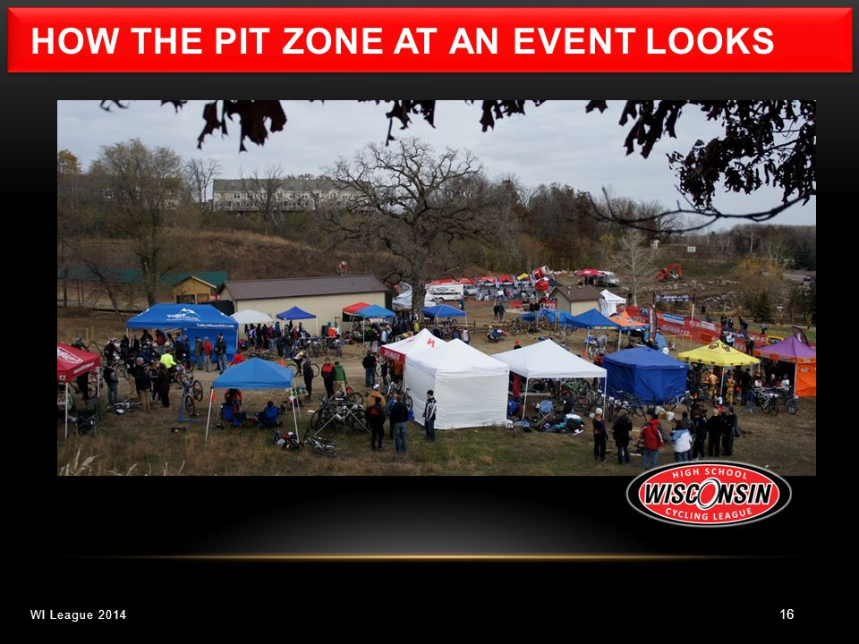 16 WI League 2014 HOW THE PIT ZONE AT AN EVENT LOOKS