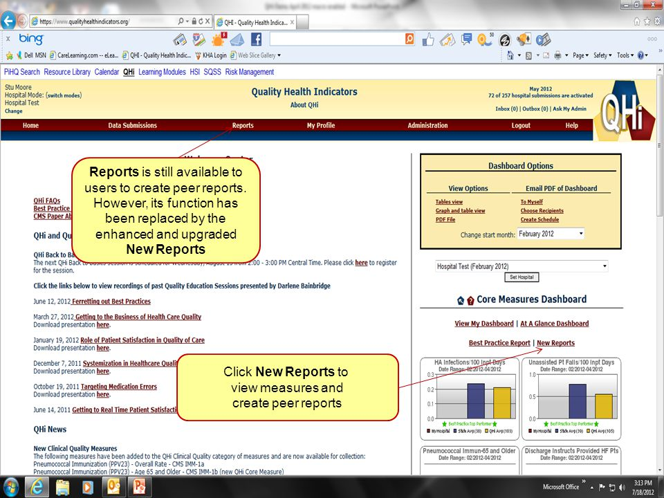64 Reports is still available to users to create peer reports.