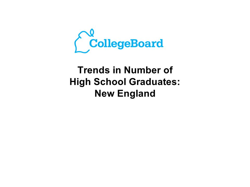 Trends in Number of High School Graduates: New England