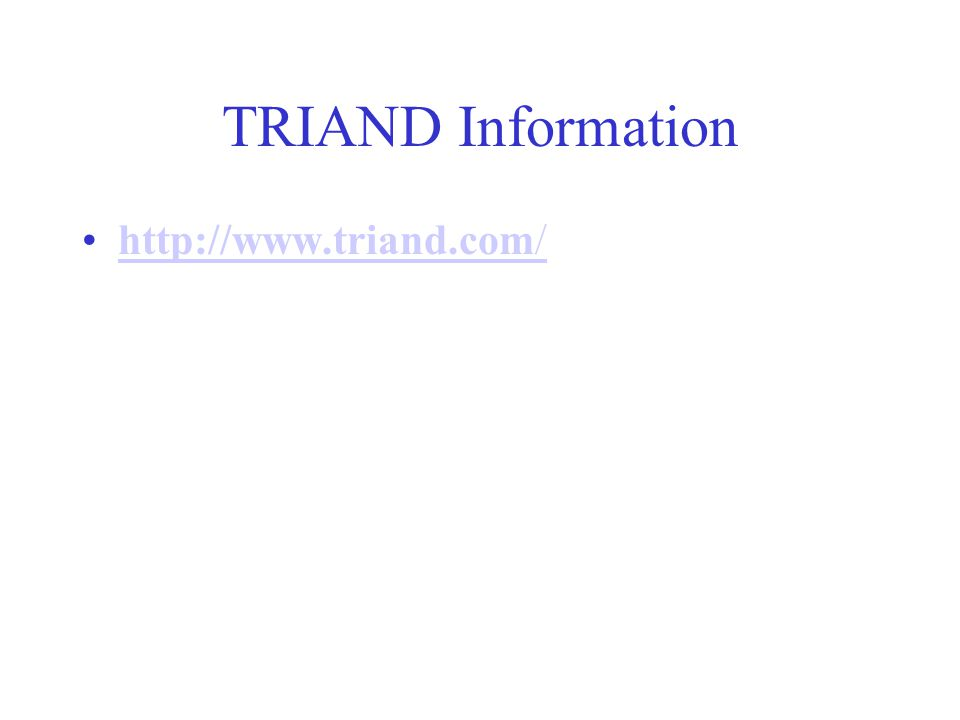 TRIAND Information