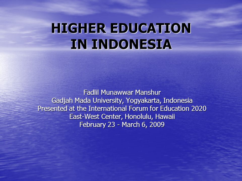 Centralized public university admission examination system in Indonesia is highly competitive.