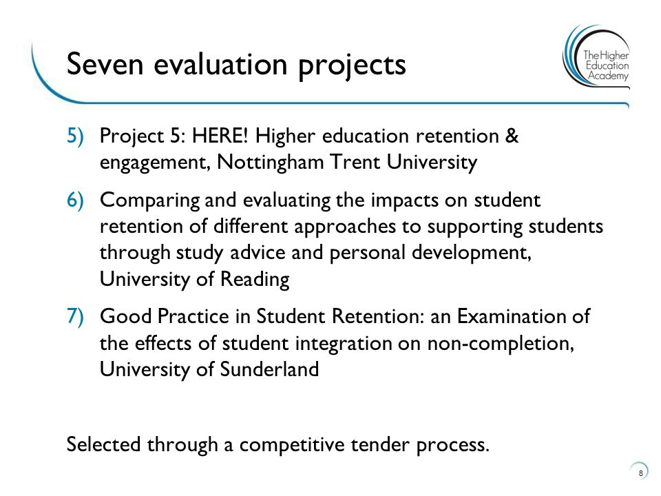 The key message from these 7 projects is the centrality of students having a strong sense of belonging in HE; this is most effectively nurtured in the academic sphere.