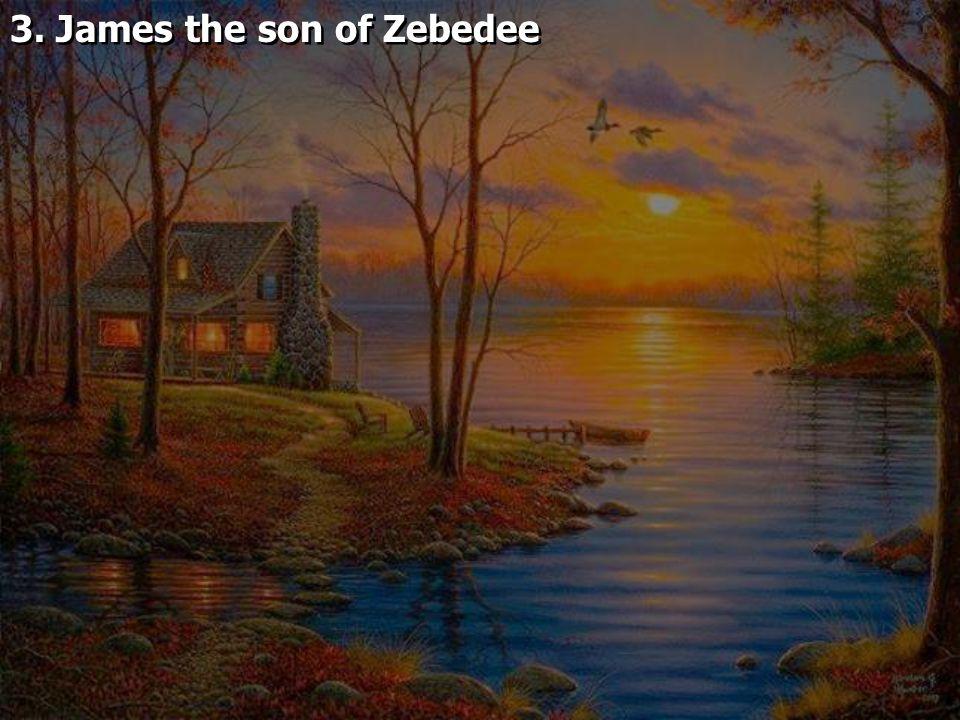 3. James the son of Zebedee