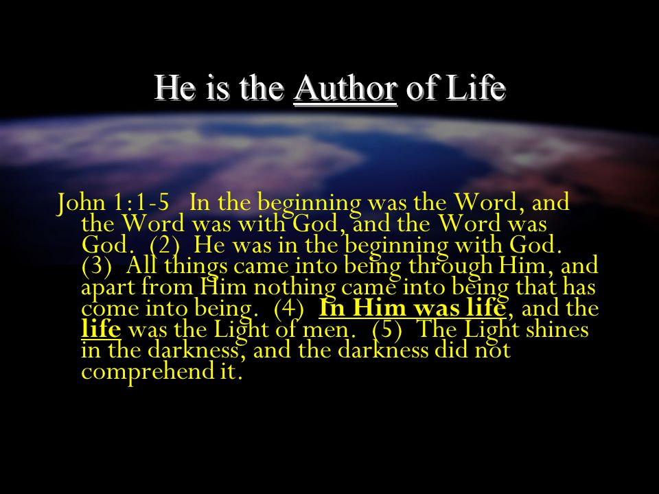He is the Creator and Sustainer of all things Col 1:16-17 For by Him all things were created, both in the heavens and on earth, visible and invisible,