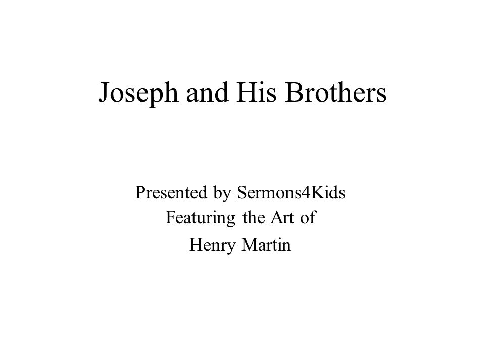 This made the other sons jealous because it showed everybody that Joseph was the favorite son.