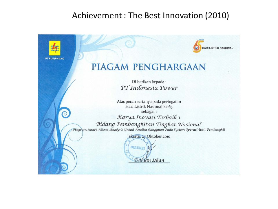 Achievement : The Best Innovation (2010)