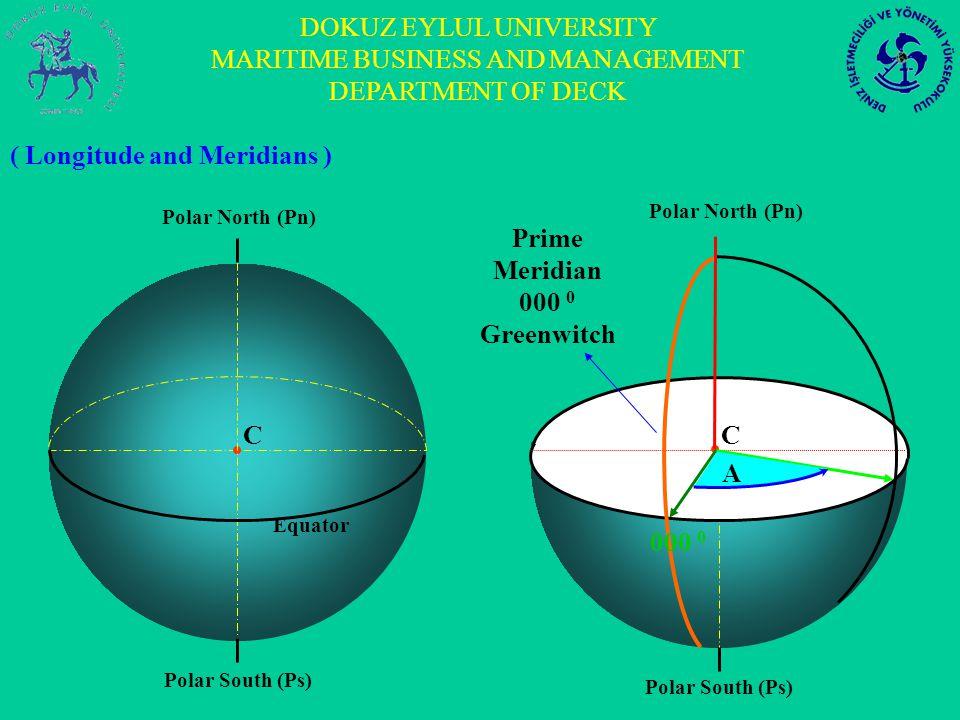 DOKUZ EYLUL UNIVERSITY MARITIME BUSINESS AND MANAGEMENT DEPARTMENT OF DECK 076 0 E 075 0 E Polar South (Ps) C 076 0 E 075 0 E 000 0 075 0 48 / E 075 0 47 / E 1 0 of dif.