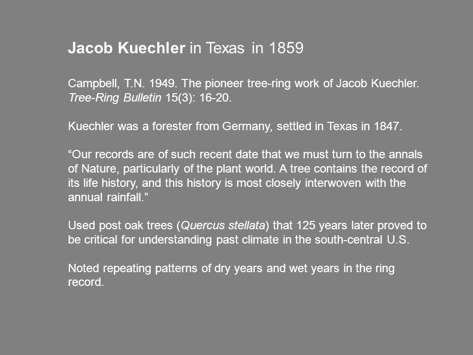 Jacob Kuechler in Texas in 1859 Campbell, T.N. 1949.