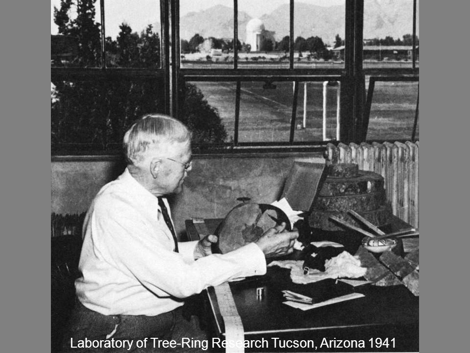 Douglass in Office Laboratory of Tree-Ring Research Tucson, Arizona 1941