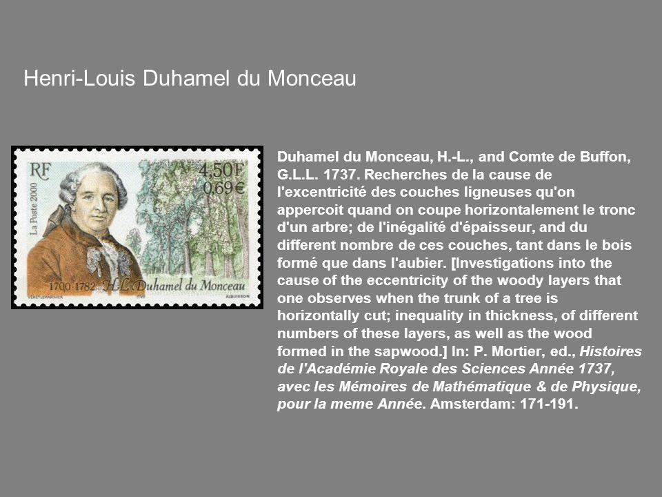 Duhamel du Monceau, H.-L., and Comte de Buffon, G.L.L.