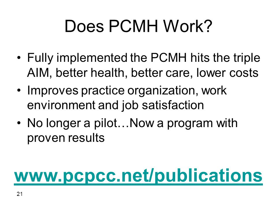 Does PCMH Work.