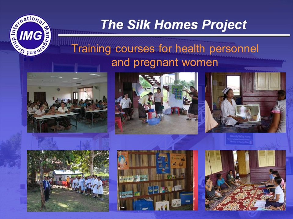 Training courses for health personnel and pregnant women