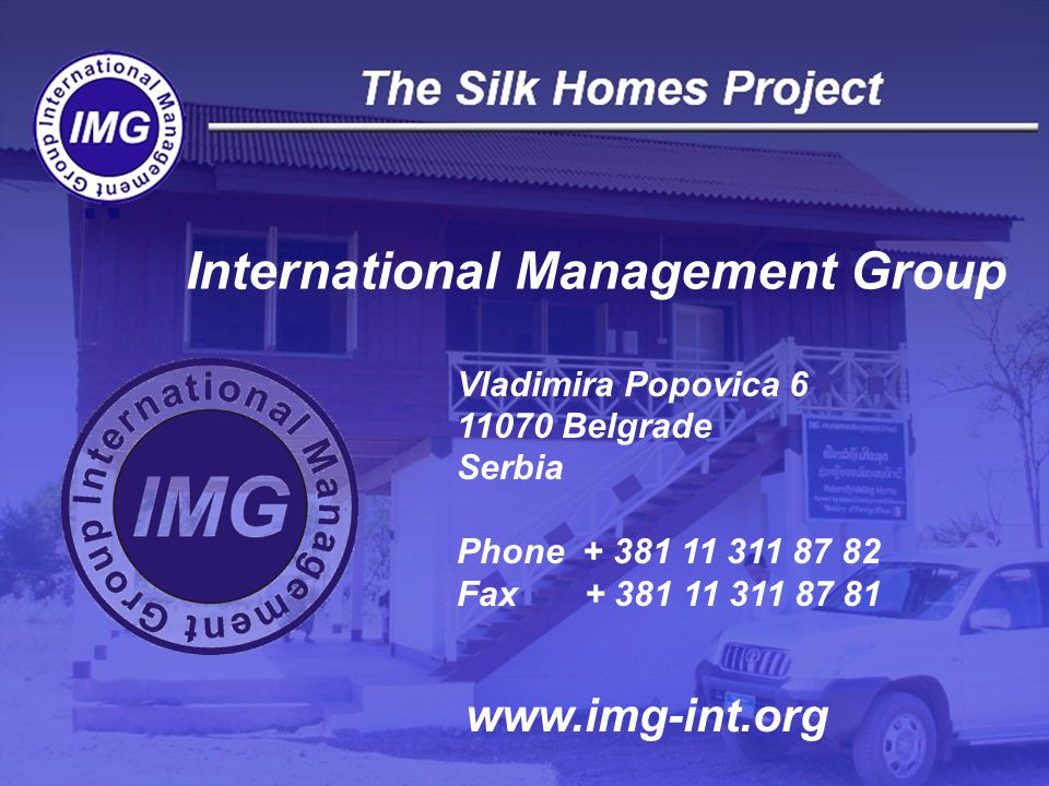 International Management Group Vladimira Popovica Belgrade Serbia Phone Fax