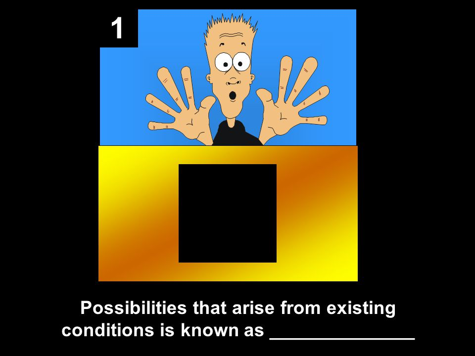 1 Possibilities that arise from existing conditions is known as ______________