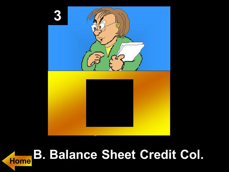 3 B. Balance Sheet Credit Col.