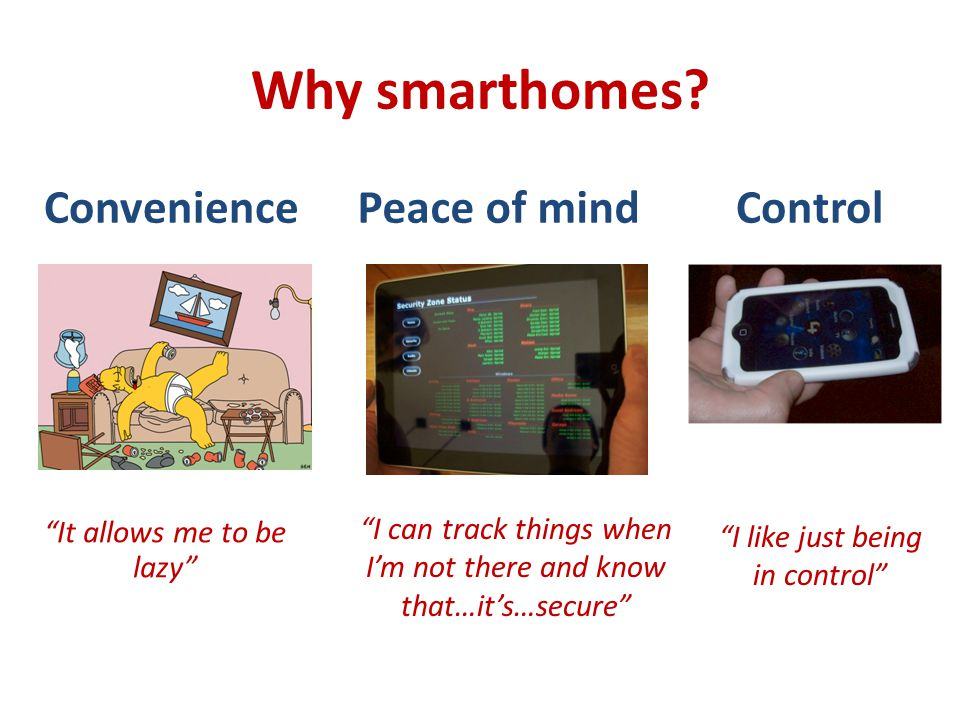 Extensibility or Why not smart homes? Manageability