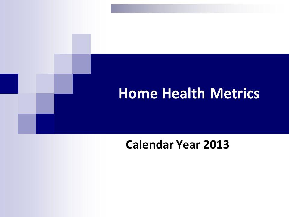 Home Health Metrics Calendar Year 2013