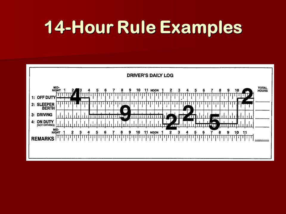 14-Hour Rule Examples