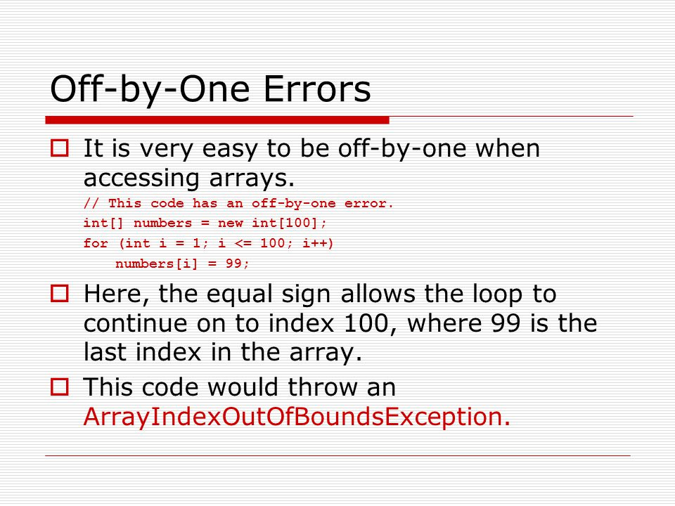 Array Initialization  When relatively few items need to be initialized, an initialization list can be used to initialize the array.