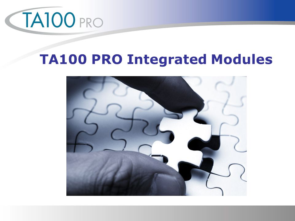 TA100 PRO Integrated Modules