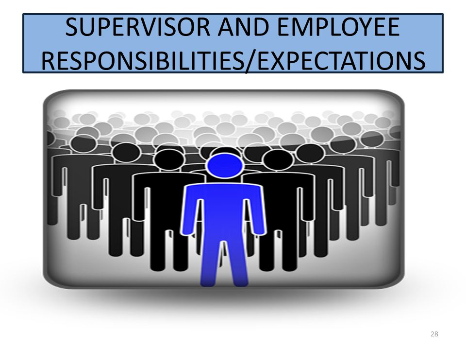 28 SUPERVISOR AND EMPLOYEE RESPONSIBILITIES/EXPECTATIONS