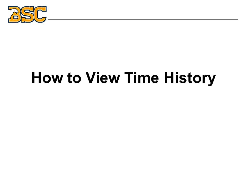 How to View Time History _______________________________