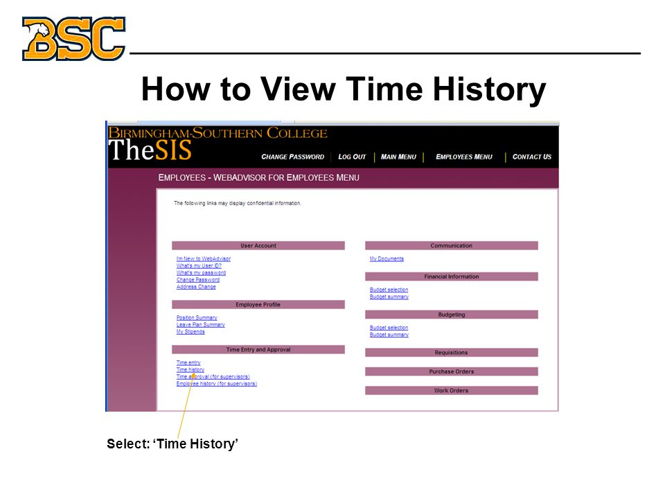 How to View Time History _______________________________ Select: 'Time History'