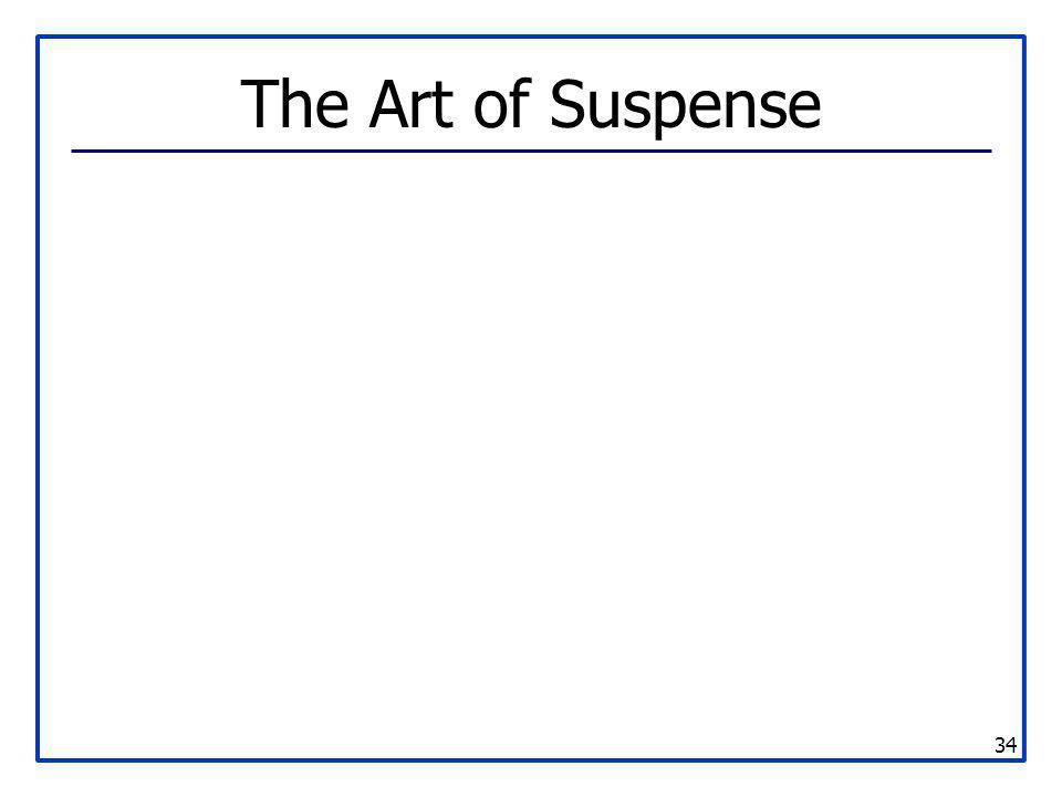34 The Art of Suspense