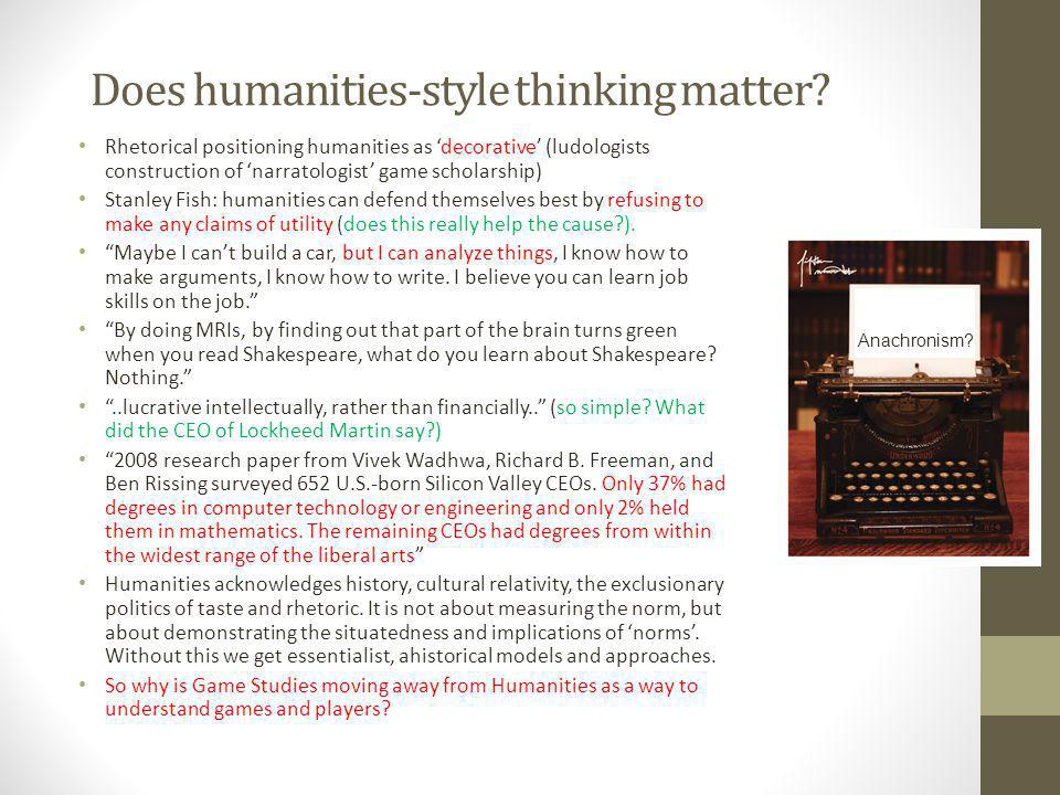 Does humanities-style thinking matter.