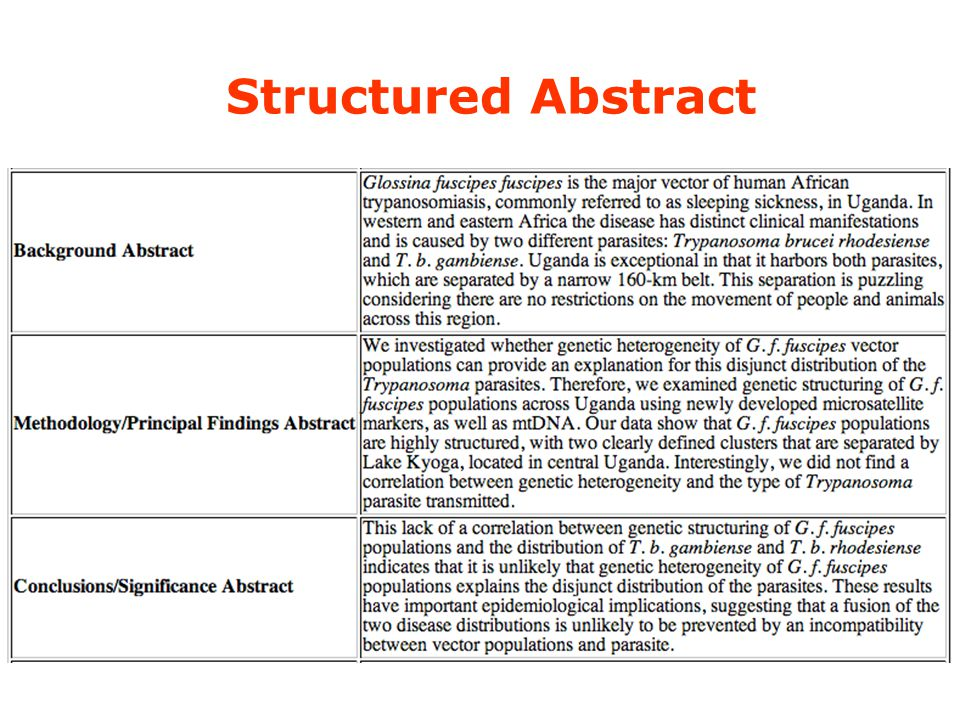 Structured Abstract